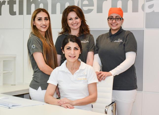 Team der Zahnarztpraxis im Spectrum am UKE in Hamburg Eppendorf